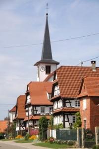 maisons nord de l'Alsace + vitres bombées  (7)